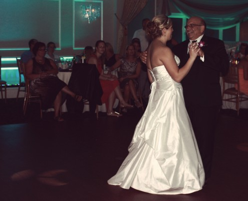 A father and daughter dance