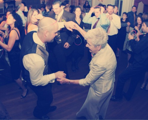 A groom and his grandmother dance