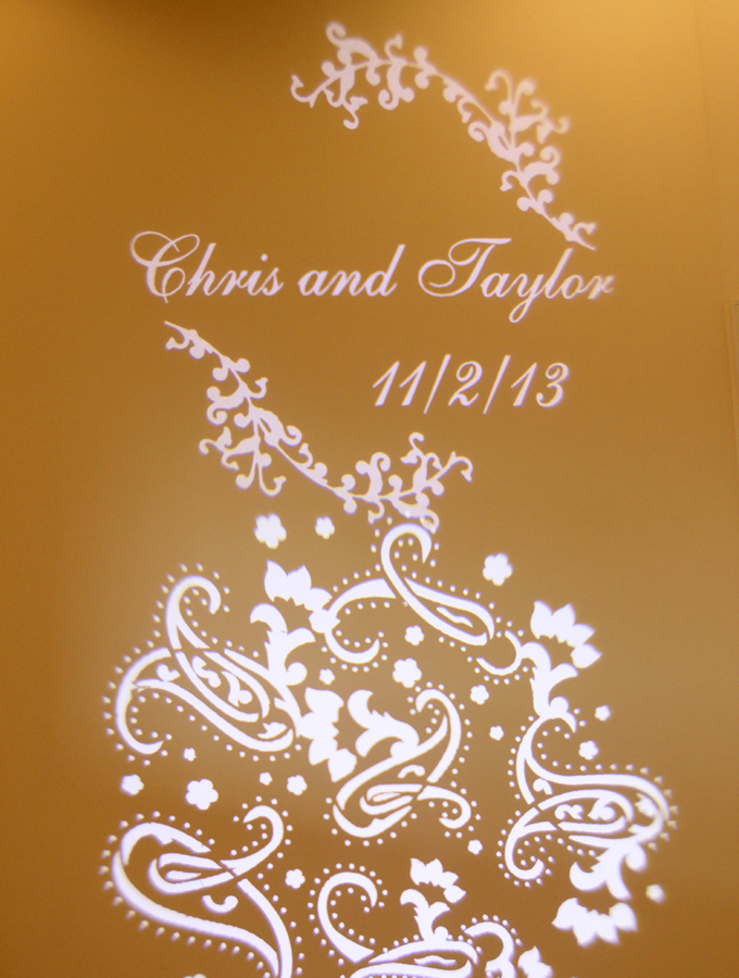 wedding gobo example