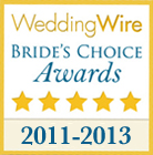 Winner of a Wedding Wire Bride's Choice Award from 2011 to 2013